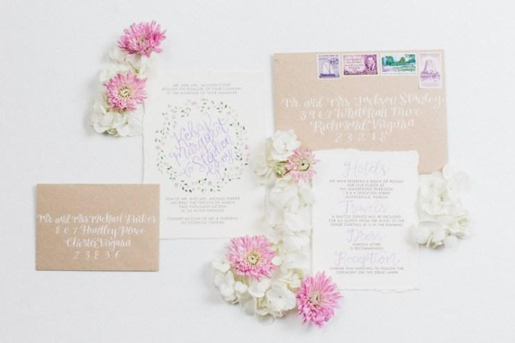 purple-green-floral-watercolor-invitation-calligraphy-kraft-vintage-stamps-envelope-5