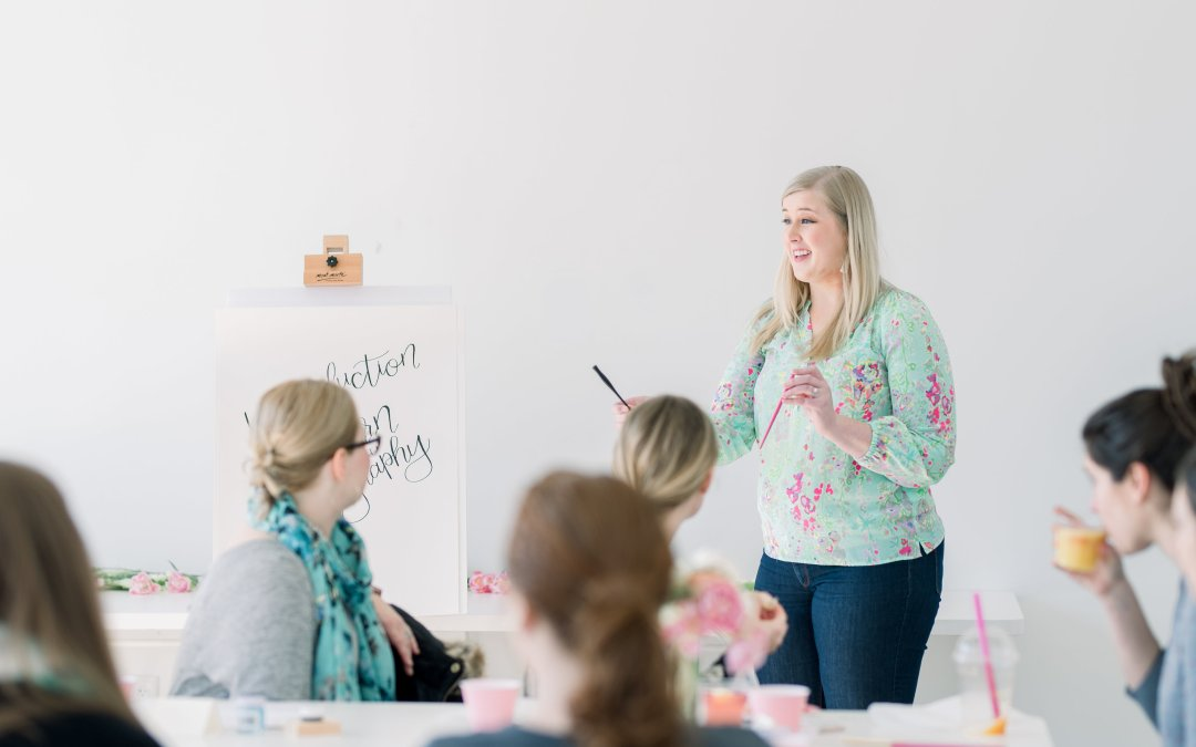 Introduction to Modern Calligraphy Workshop – March Recap