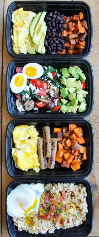 Make-Ahead Breakfast Meal Prep Bowls are quick, easy and healthy recipes to make for grab and go breakfasts all week!