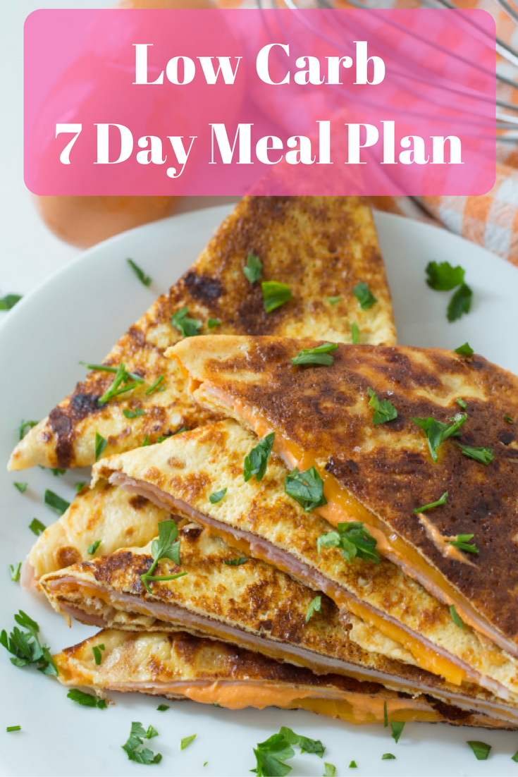 Low Carb 7 Day Meal Plan