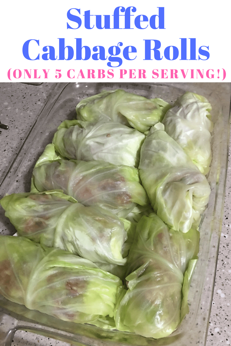 Stuffed Cabbage Rolls (Keto, Low Carb, Paleo & Whole30 approved!) #keto #lowcarb #pigsinablanket #whole30 #paleo