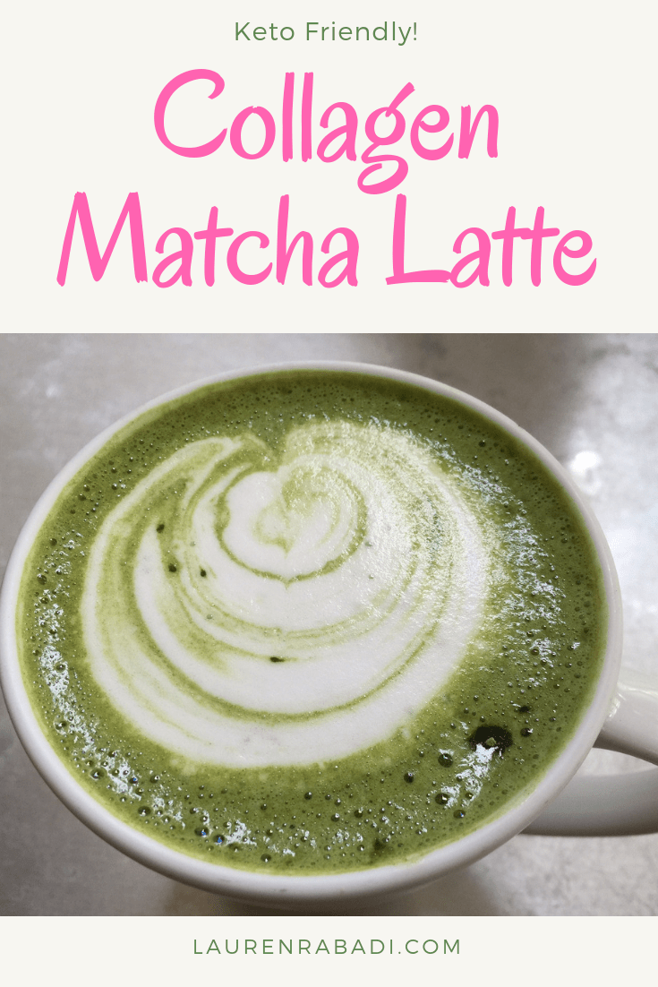 Collagen Matcha Latte - Keto Friendly #keto #matcha #collagen #ketodiet