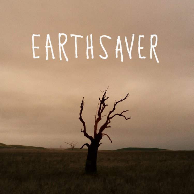 Earthsaver logo displayed over an image of a dead tree