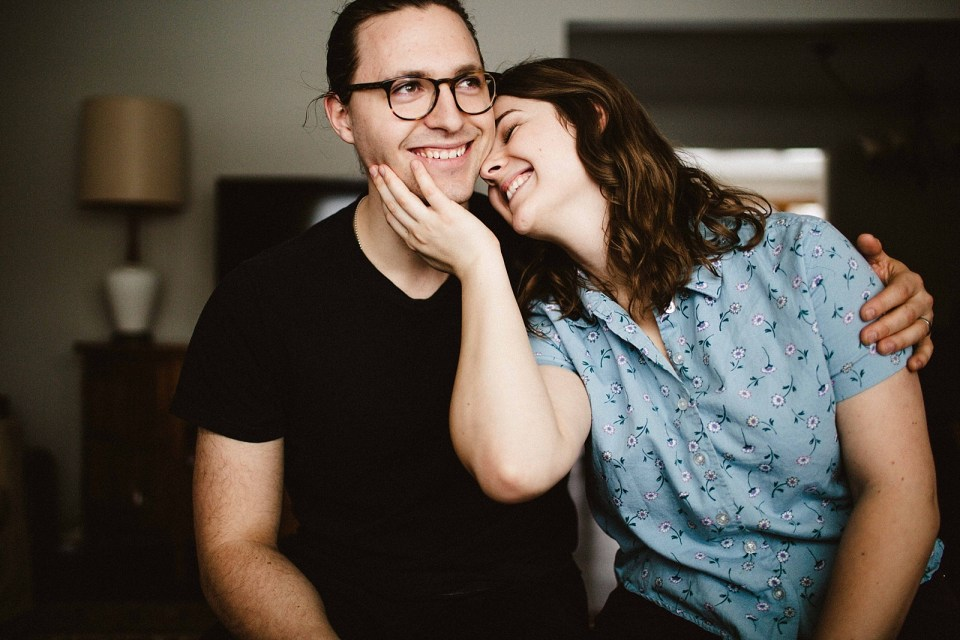Intimate In Home Session-Minneapolis Engagement Photographer