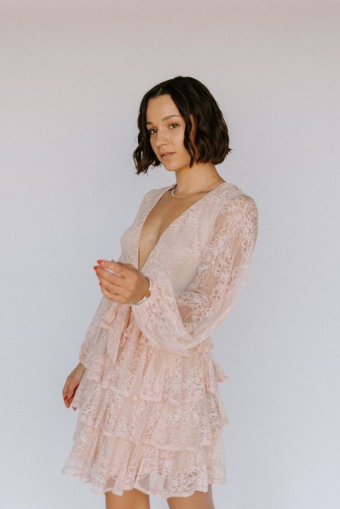 Saints and Secrets Dress Joyful Notion Tampa Pink Valentine's Day Photoshoot Inspiration Ideas