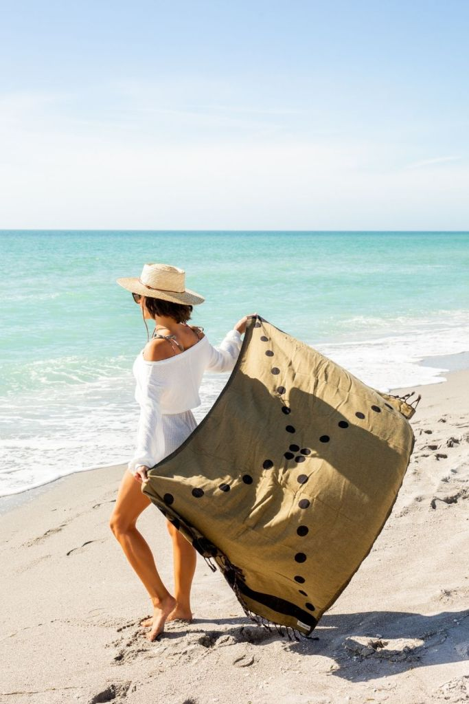 San Diego Hat Company Straw Hat Sand Cloud Boho XL Beach Towels