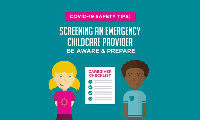COVID-19 Safety Tips: Screening an Emergency Childcare Provider