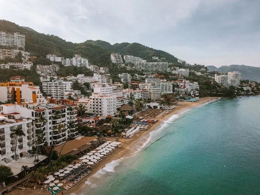 12 Hours in Puerto Vallarta - Drone view of Los Muertos beach