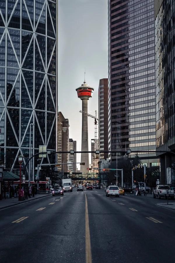 Calgary Tower - Calgary's Best Photo Spots - Lauren's Lighthouse