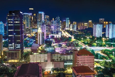 Jakarta City Night Skyline by Bayu Syaits