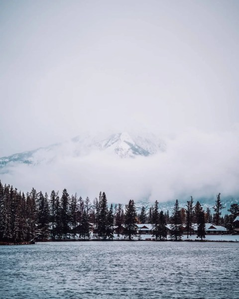 Jasper Lac Beauvert, moody shot, hidden mountain, October
