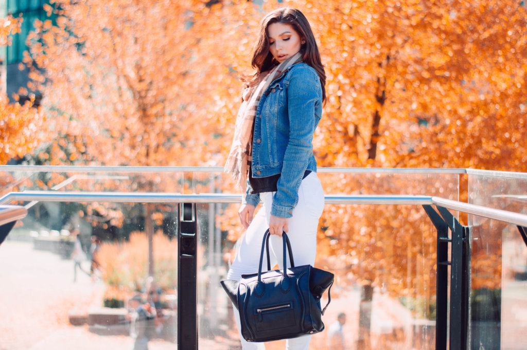 White Denim for Fall Outfit of the day