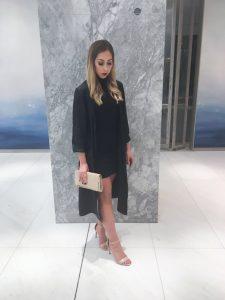 Aritzia dress and duster coat