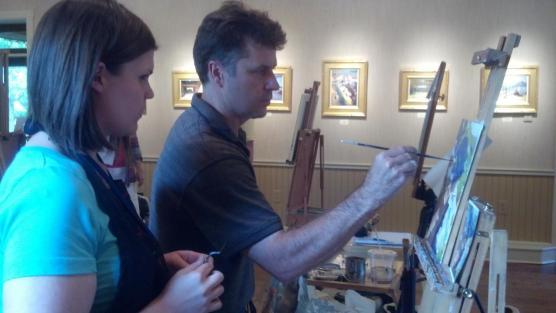 Just taking a few pointers from Colley. I love the finishing touches he added to my painting!