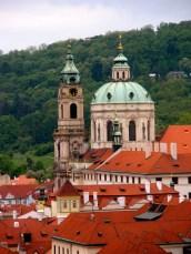 Prague rooftops.