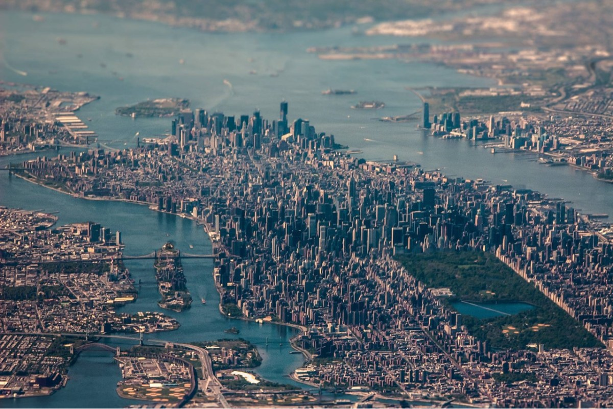 new york from the air.