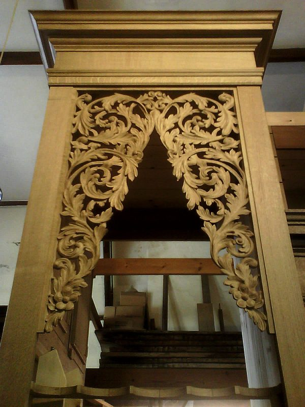 new organ case for Oxford by Laurent Robert Woodcarver, tower