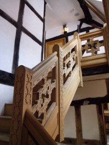 Staircasehouse in Stockport, reconstruction of staircases, new carved staircases, Laurent Robert woodcarving