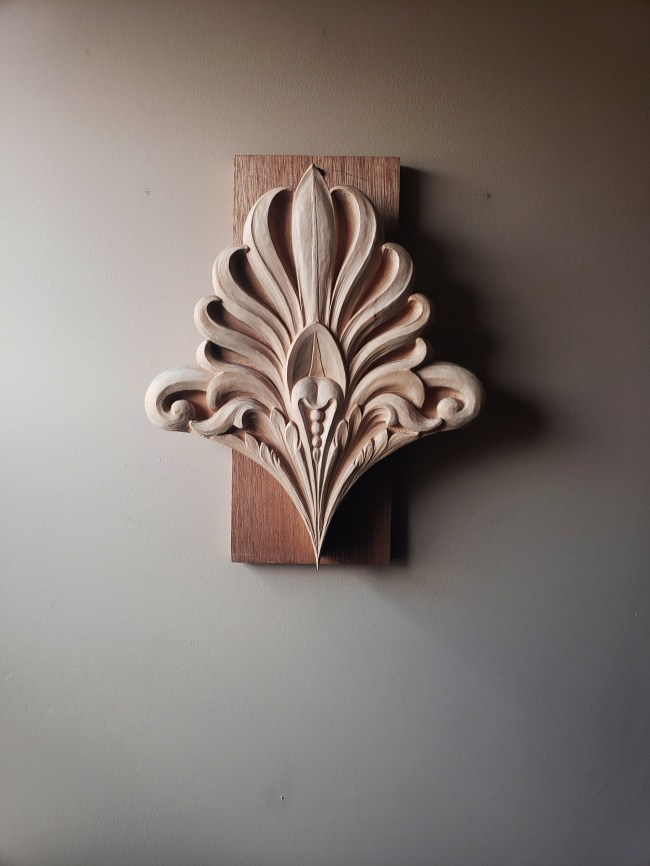 pipe organ sculptures for bruton church in williamsburg including an acroterion carving by laurent robert