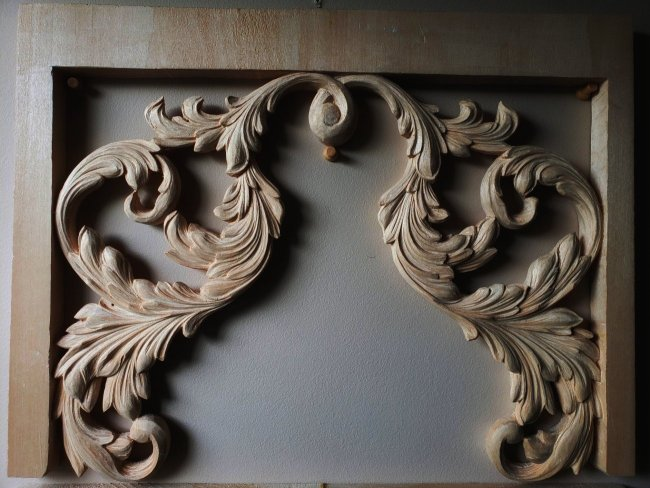 pipe organ sculptures for bruton church in williamsburg including a tower pipe shades carving by laurent robert
