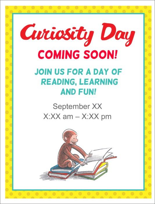 Curiosity Day Customizable Flyer