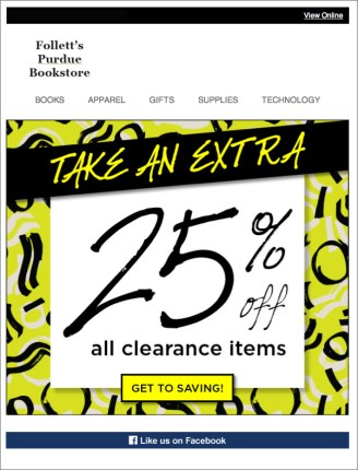 Clearance Email 1