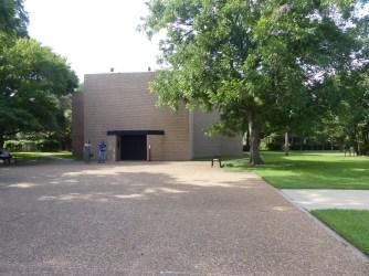 La façade sobre de la Rothko Chapel