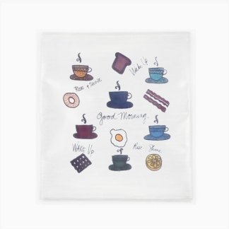 Flour Sack Towel - Good Morning Coffee