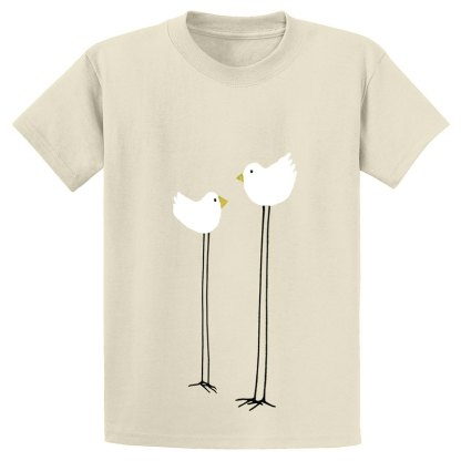 UniSex-SS-Tee-natural-long-legged-birds