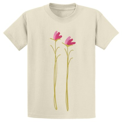 UniSex-SS-Tee-natural-pink-floral