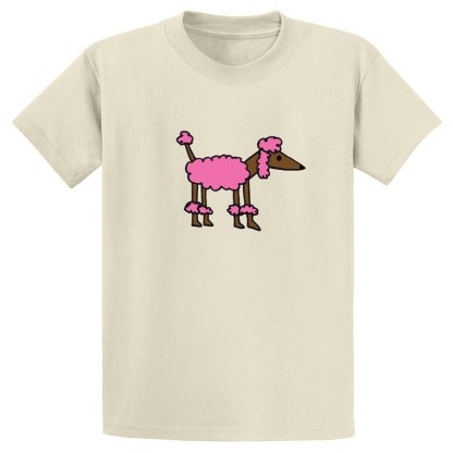 UniSex-SS-Tee-natural-pink-poodle
