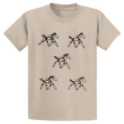 UniSex-SS-Tee-tan-running-horses