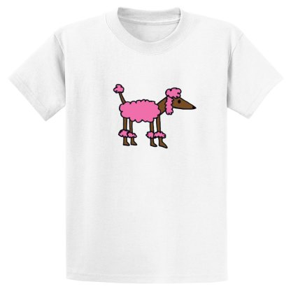 UniSex-SS-Tee-white-pink-poodle