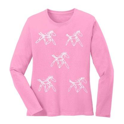 LS-Tee-pink-running-horsesW