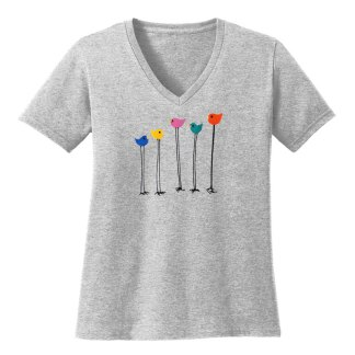 V-Neck-Tee-grey-multi-bird-row