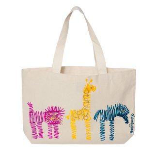 Tote-natural-multi-zoo-row