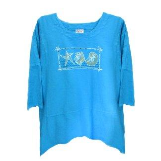 Tunic-turquoise-shells