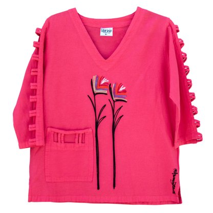 lattice-sleeve-w-pocket-guava-birds-of-paradise