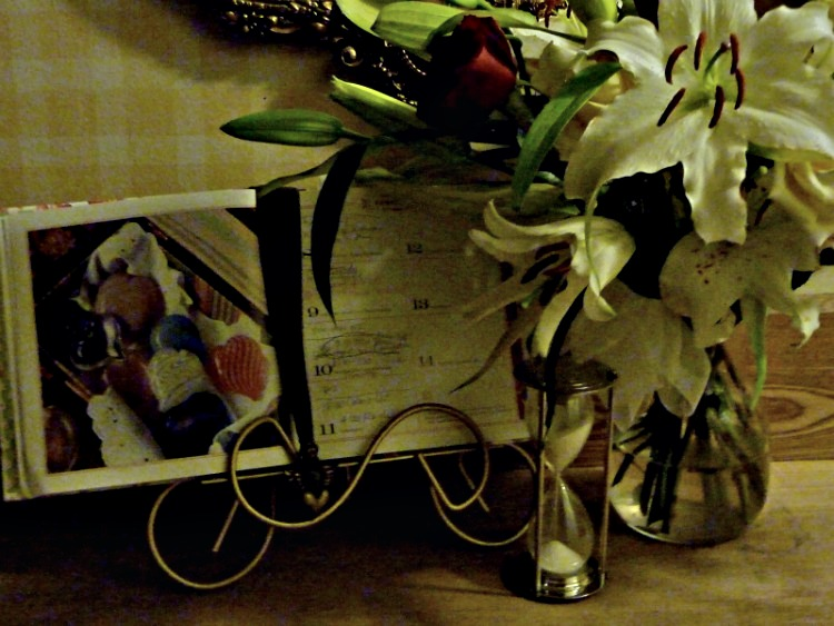 Fat Tuesday Lilies, Calendar & Hourglass