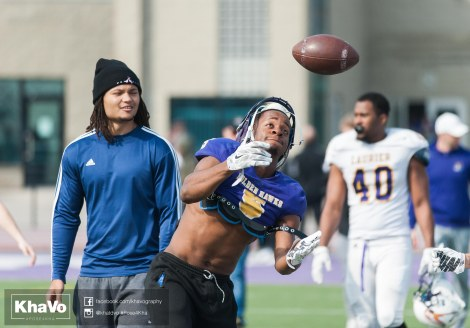 20170324 - Kha Vo - Laurier Football scrimmage vs Western_-16