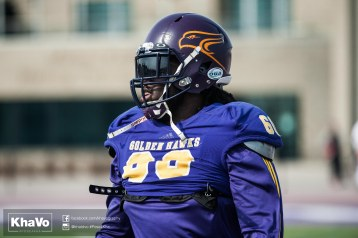 20170324 - Kha Vo - Laurier Football scrimmage vs Western_-13
