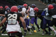 20170331 - Kha Vo - Laurier Football scrimmage vs Guelph_-152