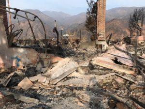 devastation from California wildfires
