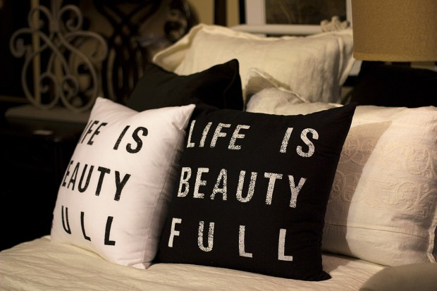 Life is Beauty-Full pillows