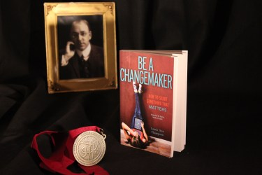Burgess Award Be a Changemaker display