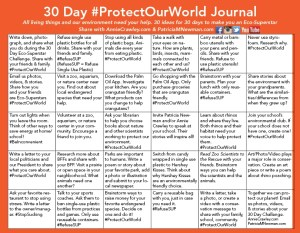 #ProtectOurWorld challenge journal