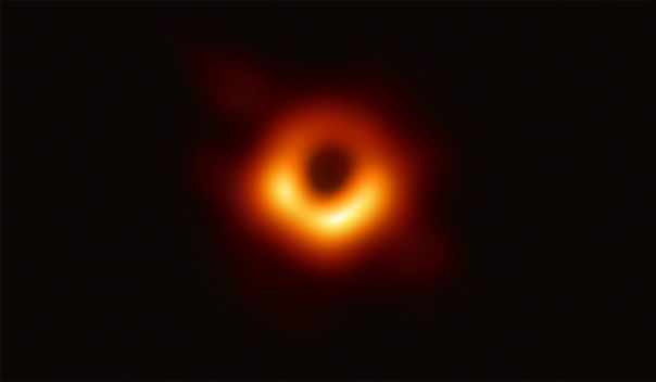 the first detailed photograph of a black hole