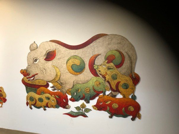 pig and piglets by Xuan Lam
