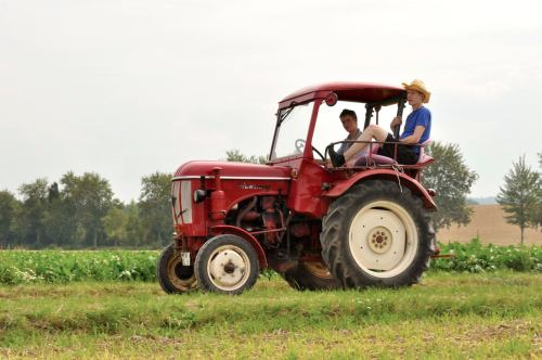 kleiner roter Traktor...