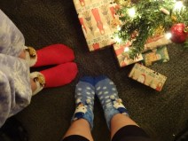 My mom sent me and Siostra Barney Christmas Sock!!!